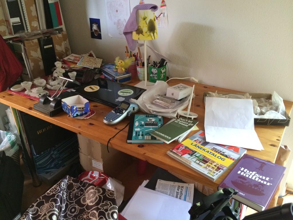 Vem städar arbetsrummet?