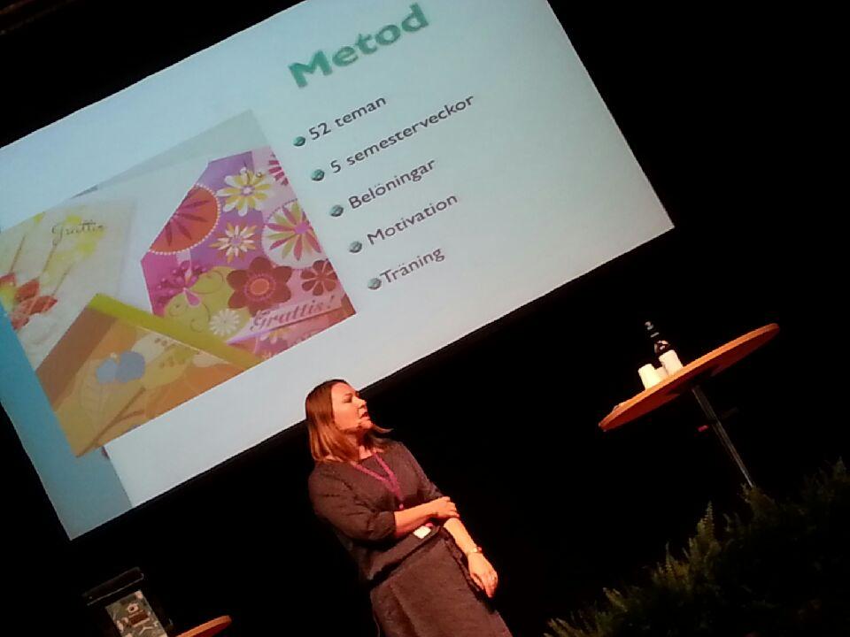Mitt föredrag på scenen för Hälsa & Livsstil!