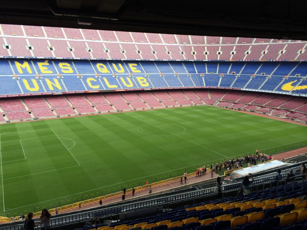 Camp Nou, hemma för FC Barcelona.