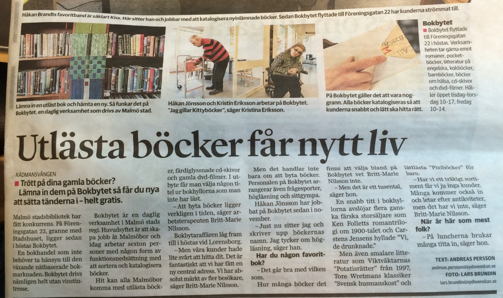 Bokbytet i Malmö!