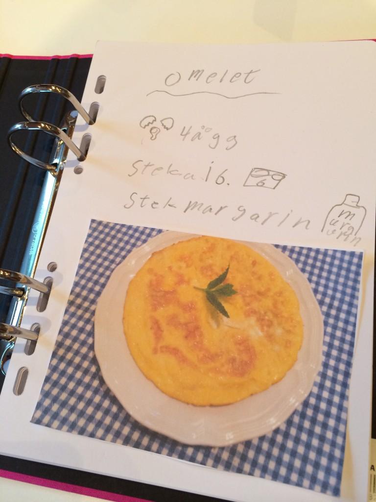 Första receptet - omelett :-)