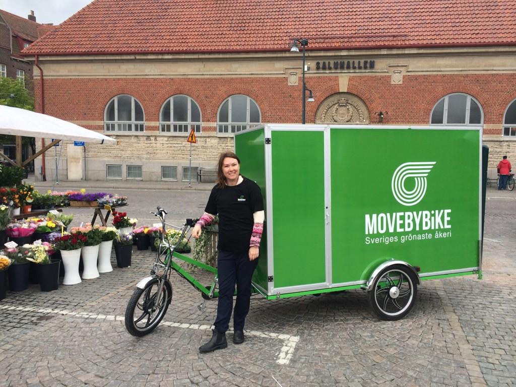 Cykeln och jag utanför Saluhallen i Lund!